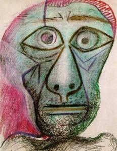 picasso Self-Portrait-facing death 1972-border