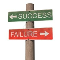 10686909-success-and-failure-signpost-isolated-on-the-white-background