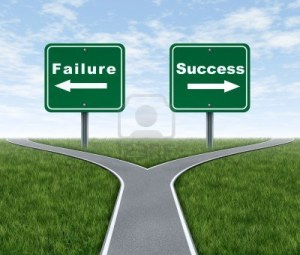 10976410-success-and-failure-symbol-represented-by-a-forked-road-with-a-road-sign-representing-failing-and-an